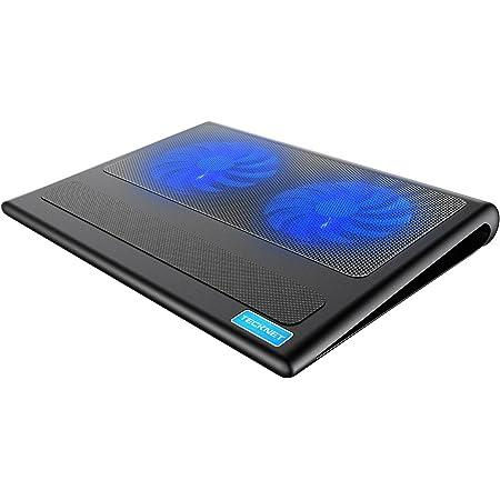 """TECKNET Base di Raffreddamento, Raffreddamento Notebook Ventola per PC Laptop 12""""-16"""" con 2 Silenziose Ventole a LED e 2 USB Porte Portatili"""