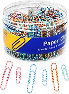 Sponsored Ad - Paper Clips 450 Medium and Large Paper Clips, 300 28mm and 150 50mm Vinyl-Coated Smooth Paper Clips.Ldeal f...