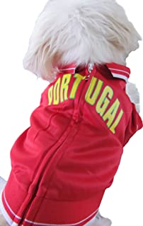 The Mutley Collection Portugal Olympic Soccer Warm-Up Track Jacket for Dogs