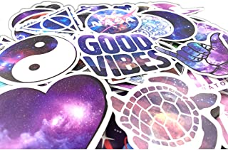 Dreamy Ocean/Galaxy Trendy Vinyl Stickers (69PC) Pack for for Laptop, Hydro Flask, Water Bottles, Phone, Ipad, Luggage. Asthetic Decals for Teens, College Students. Extra Durable 100% Vinyl