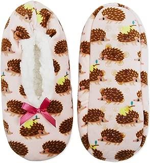 No Boundaries Womens Pink Hedgehog Fuzzy Babba Slipper Socks Size M/L