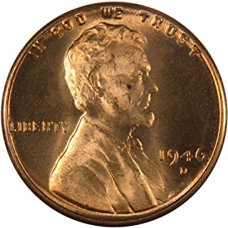 1946 D 1c Lincoln Wheat Cent Penny US Coin Uncirculated Mint State