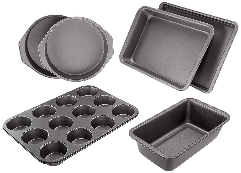 AmazonBasics 6 Piece Nonstick Bakeware Baking