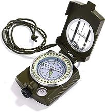 OPcFKV Brújula Multifuncional, brújula de Metal de Alta precisión a Prueba de Agua con medidor de Mapa, for Senderismo, Escalada, navegación, exploración, geología