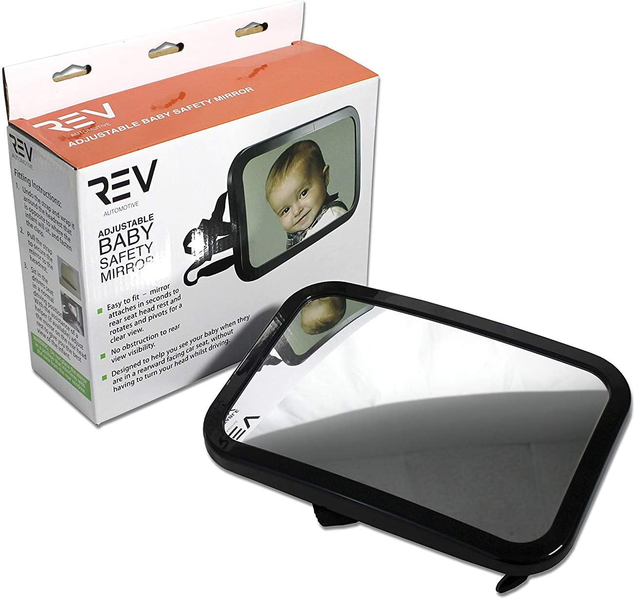 Milwaukee Mall VViViD Mail order Headrest Mounted Rear View Baby Backseat Safet Adjustable