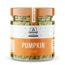 Organic Box Raw Pumpkin Seeds – 250 Gram JAR PACK Protein and Fiber Rich Superfood For Eating
