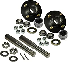 R and P Carriages Build Your Own Trailer Axle 4 x 4 Bolt Hub Assembly with 1