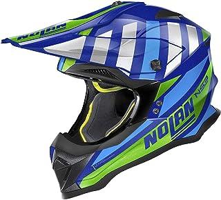 Nolan N53 Cliffjumper Motocross Helm Blau/Grün XXS 54