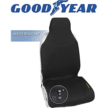 "Goodyear GY1121 \ Water Resistant Seat Cover \ One Piece Fit 22"" W x 53"" H \ 100% Pure Neoprene Fabric for Maximum Protection \ Side Airbag Compatible \ Fits Most Vehicles \ Easy Slip-on"
