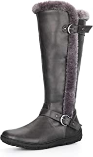 PENNYSUE Women's Winter Fur Lined Warm Snow Knee High Boots Wide Calf
