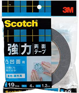 3M スコッチ 強力両面テープ 凸凹面用 19mm×4m SKH-19
