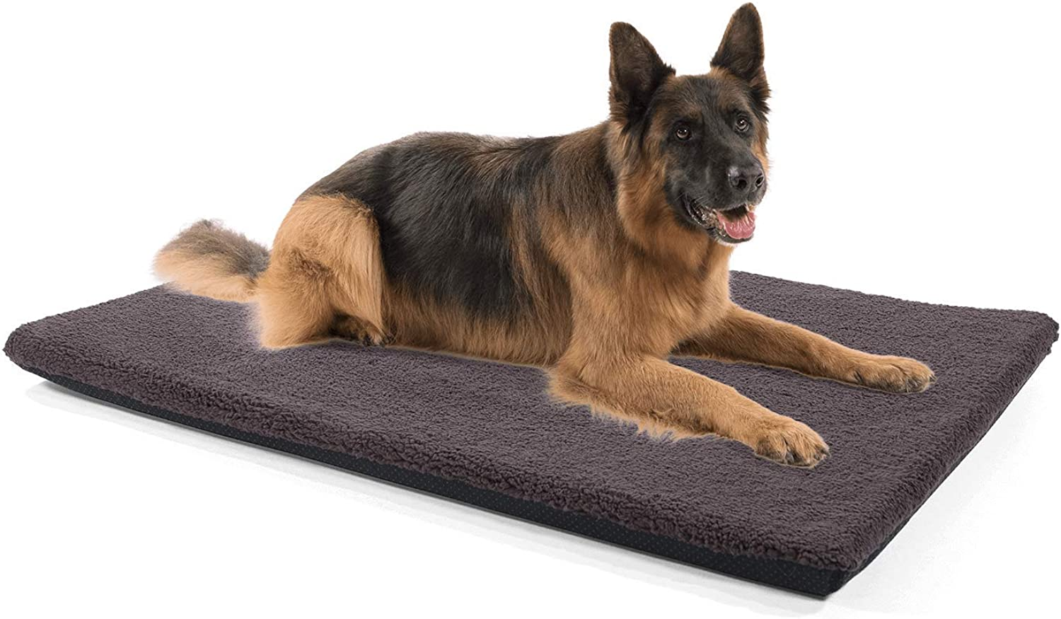 Brunolie  Nala nonslip dog mattress in darkbrown – dog bed with plush and zipper, suitable for dogs and cats, size L (120 x 80 x 5 cm)