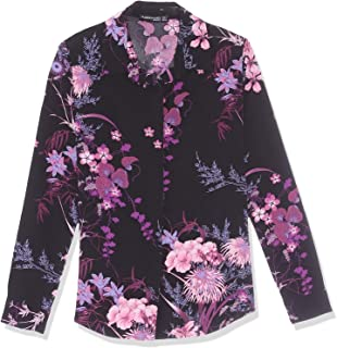 Andiamo Long Sleeves Floral Pattern Shirt for Women - Black, M - 2725524012671
