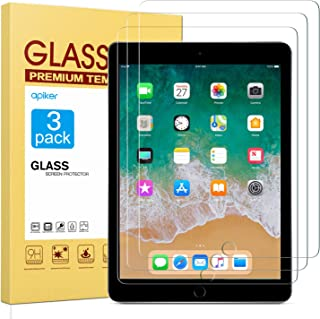 apiker [3 Pack] Screen Protector for iPad 9.7 2018 (iPad 6th Generation) / iPad 9.7 2017 / iPad Pro 9.7 Inch, Tempered Glass Screen Protector with Apple Pencil Compatible/High Definition