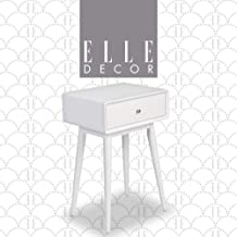 Elle Decor Rory One Drawer Side Table, White
