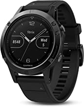 Garmin fēnix 5, Premium and Rugged Multisport GPS Smartwatch, Slate Gray with Black Band, Renewed