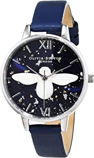 Olivia Burton Womens Quartz Watch, Analog Display and Leather Strap OB16GD04