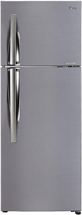 LG 284 L 2 Star Inverter Frost Free Double Door Refrigerator  GL C302KPZY, Shiny Steel