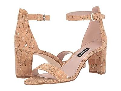 Nine West Pruce Block Heeled Sandal (Natural Platino) Women