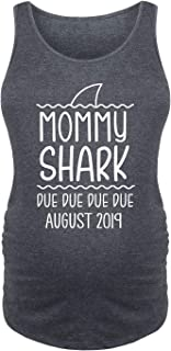 Mommy Shark August - Ladies Maternity Tank