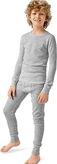 Hanes Boys Thermal X-Temp Underwear Set Heather Grey S