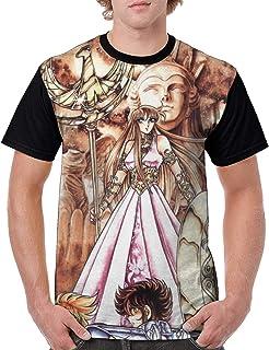 メンズ 半袖Saint Seiya 聖闘士星矢 (21) 半袖 Tシャツ メンズ 夏服 インナーシャツ メンズ Tシャツ 半袖 吸水速乾 肌着 無地 防菌防臭 クセになる肌触り 対応 服