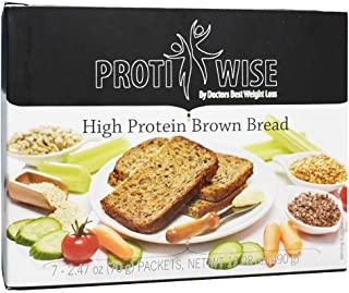ProtiWise - High Protein Diet | Brown Bread | Low Calorie, Low Fat, Low Sugar (7/Box)