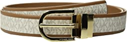 MICHAEL Michael Kors - 32mm Smooth to MK Logo Reversible Belt
