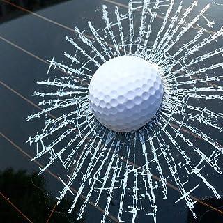Porfeet Auto Aufkleber, Lustige 3D Golfball Hit Fenster Riss Auto Windschutzscheibe Aufkleber Aufkleber Dekoration