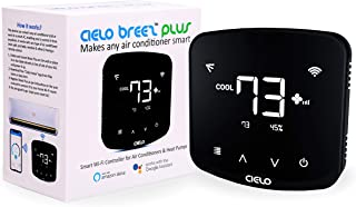 Cielo Breez Plus, Smart Air Conditioner Remote Controller   WiFi Enabled, Compatible with Alexa & Google Home, iOS, Android & Web   Set Automatic Temperature & Humidity based Triggers for your AC