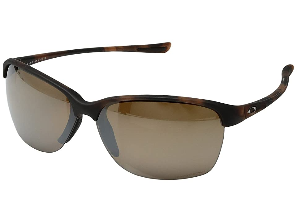 Oakley Unstoppable (Matte Brown Tortoise w/ Prizm Tungsten Polarized) Fashion Sunglasses