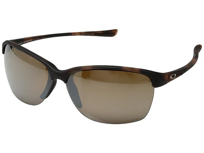 Oakley Unstoppable (Matte Brown Tortoise w/ Prizm Tungsten Polarized) Fashion Sunglasses
