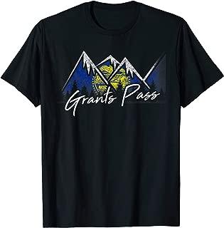 Grants Pass Oregon Flag Mountains State Souvenir Gift T-Shirt