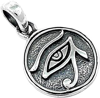 eye of horus pendant sterling silver