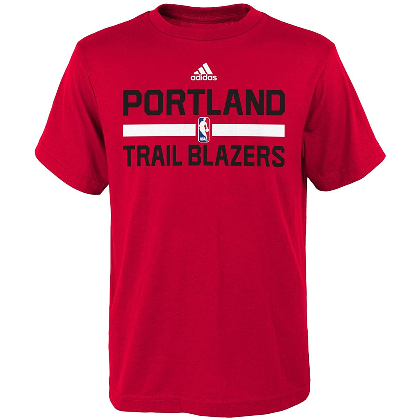 Portland Trail Blazers Adidas Red Practice Youth T-Shirt