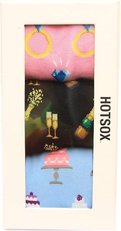 HotSox Womens Wedding Gift Box Socks, Assortment, 1 Pair, Womens Shoe 4-10
