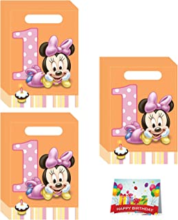 Combined Brands Minnies 1st Birthday Party Favor Treat Bags Bundle Pack of 24