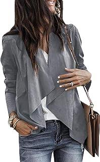 معطف رياضي مناسب للنساء كاجوال بحافة صدر مطوية مقاس كبير للخريف والشتاء