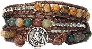 Horse Lovers Equestrian Bracelet Jasper Bead Wrap