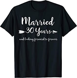 30th Wedding Anniversary Gift T-Shirt for Him Her Couples