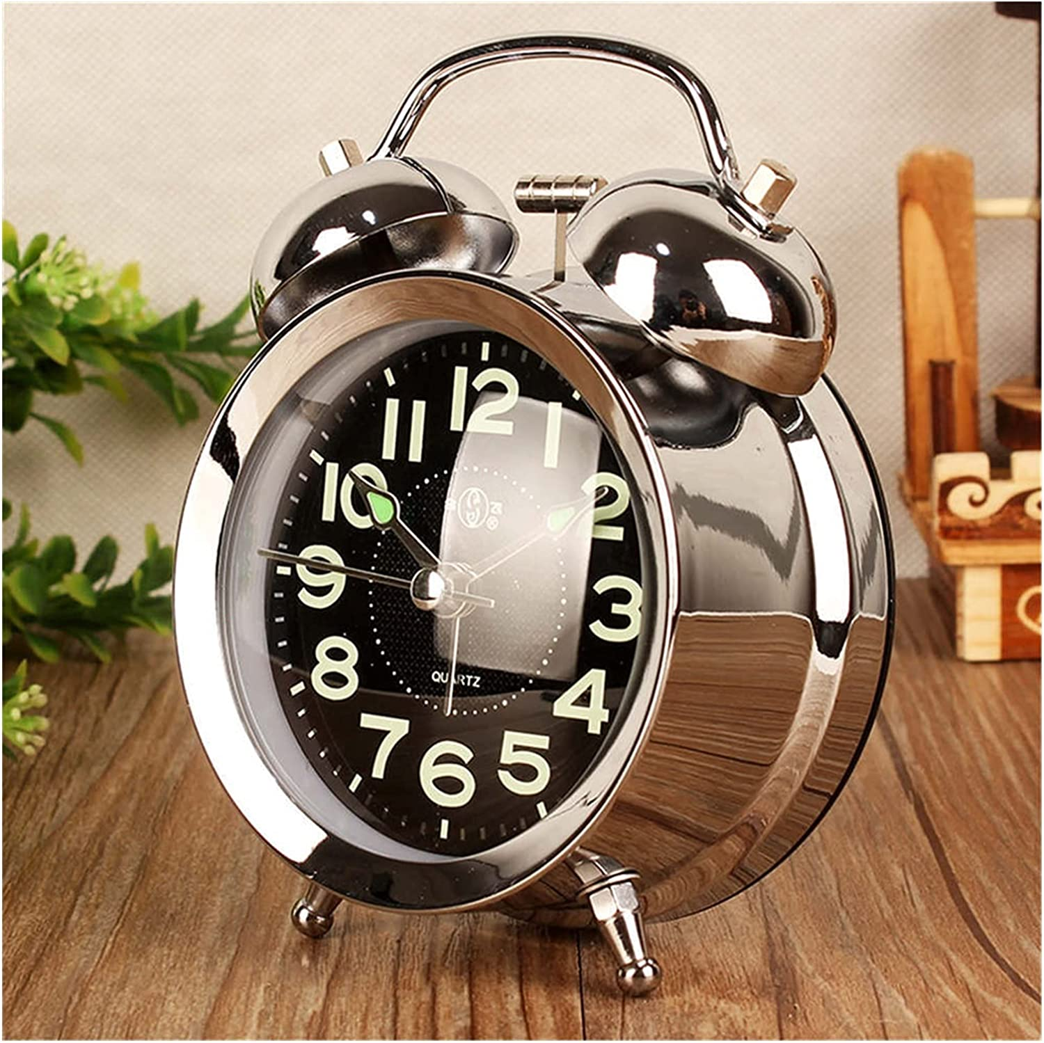 yqs Alarm Clock Metal Ringing OFFer Nig Ranking TOP3 with Bedside