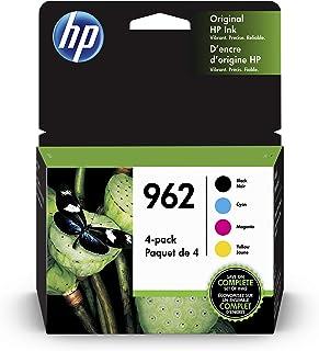 HP 962 | 4 Ink Cartridges | Black, Cyan, Magenta, Yellow | Works with HP OfficeJet Pro 9000 Series, HP OfficeJet Pro Premi...
