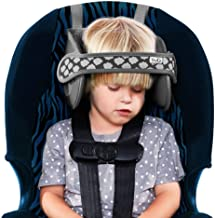 NapUp Child Head Support for Car Seats – Safe, Comfortable Head & Neck Pillow Support Solution for Front Facing Car Seats and High Back Boosters – Baby & Kids Travel Accessories (Grey)