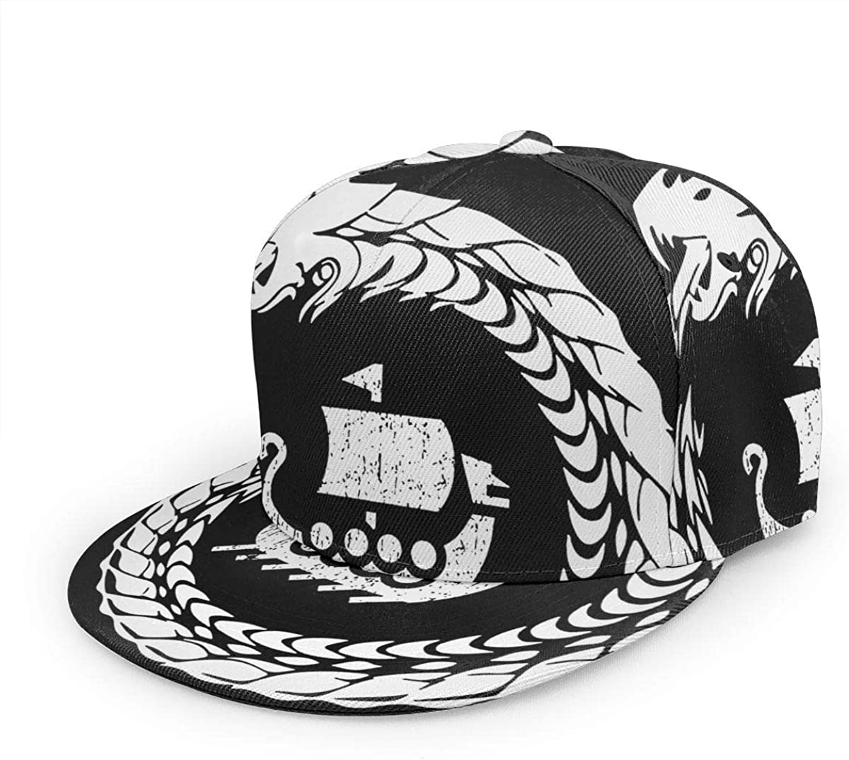 Norse Mythology Viking Unisex 3D Printing Classic Baseball Cap Snapback Flat Bill Hip Hop Hats