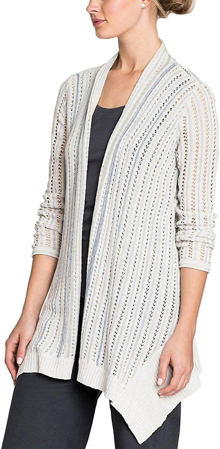 Nic + Zoe Womens Open Stitch Casual Duster Sweater
