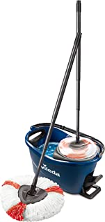 Vileda Turbo EasyWring & Clean Set Complet serpillère et Seau avec essoreuse Bleu