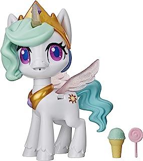 My Little Pony Magical Kiss Unicorn Princess Celestia, Interactive Unicorn Figure with 3 Surprises -- Musical Kids Toy Tha...