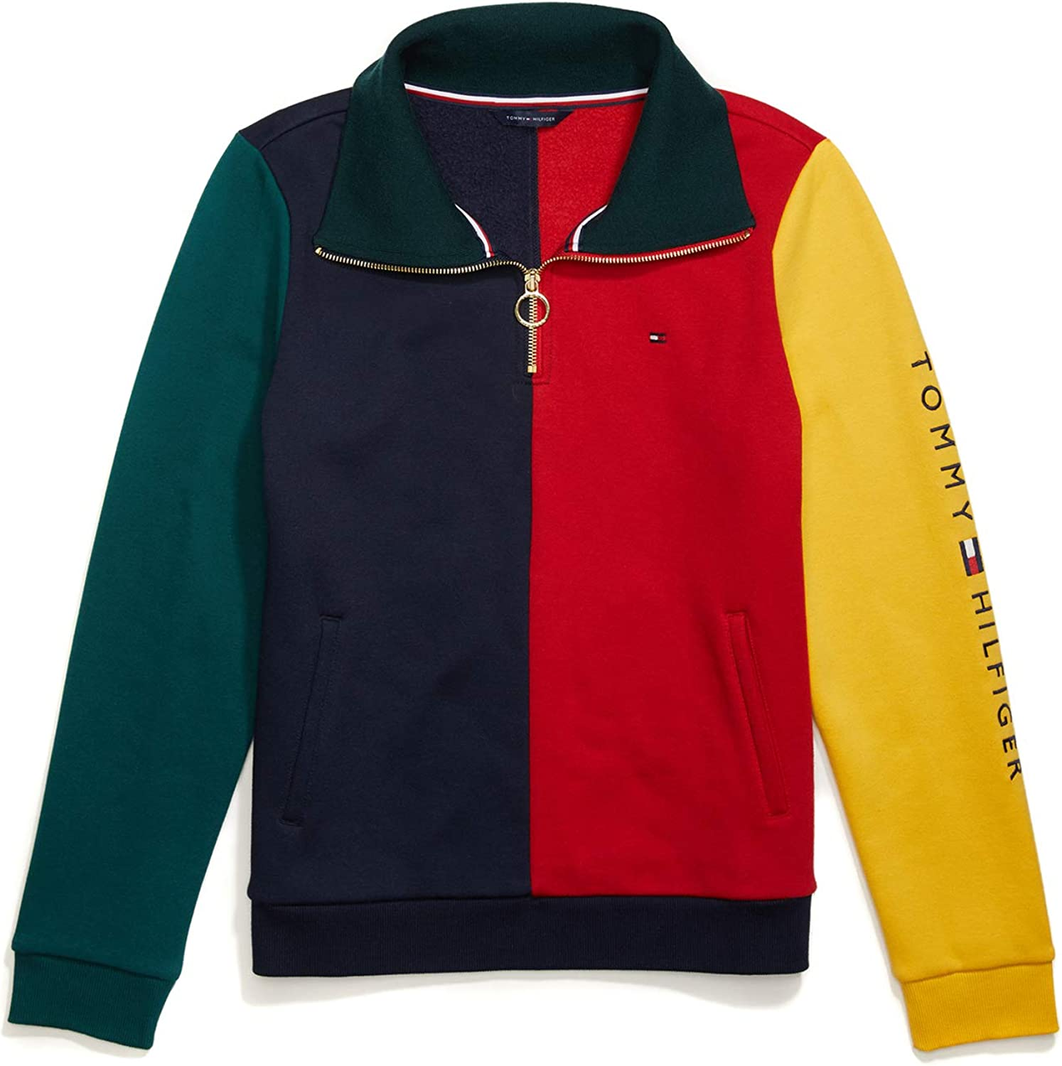 Tommy Hilfiger Womens Adaptive Hoodie Sweatshirt with Extended Zipper Pull