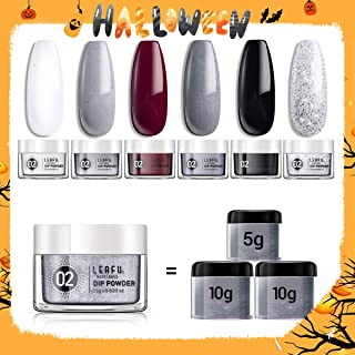 Dipping Powder Set for Nail Art 0.83oz, Dip Powder Starter Set Refill with 6 Dip Powder Colors for French Nail Manicure Nail Art Set Essential Kit