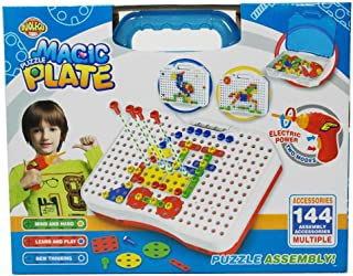 Puzzle Magic Plate Bag DIY Education toy for kids